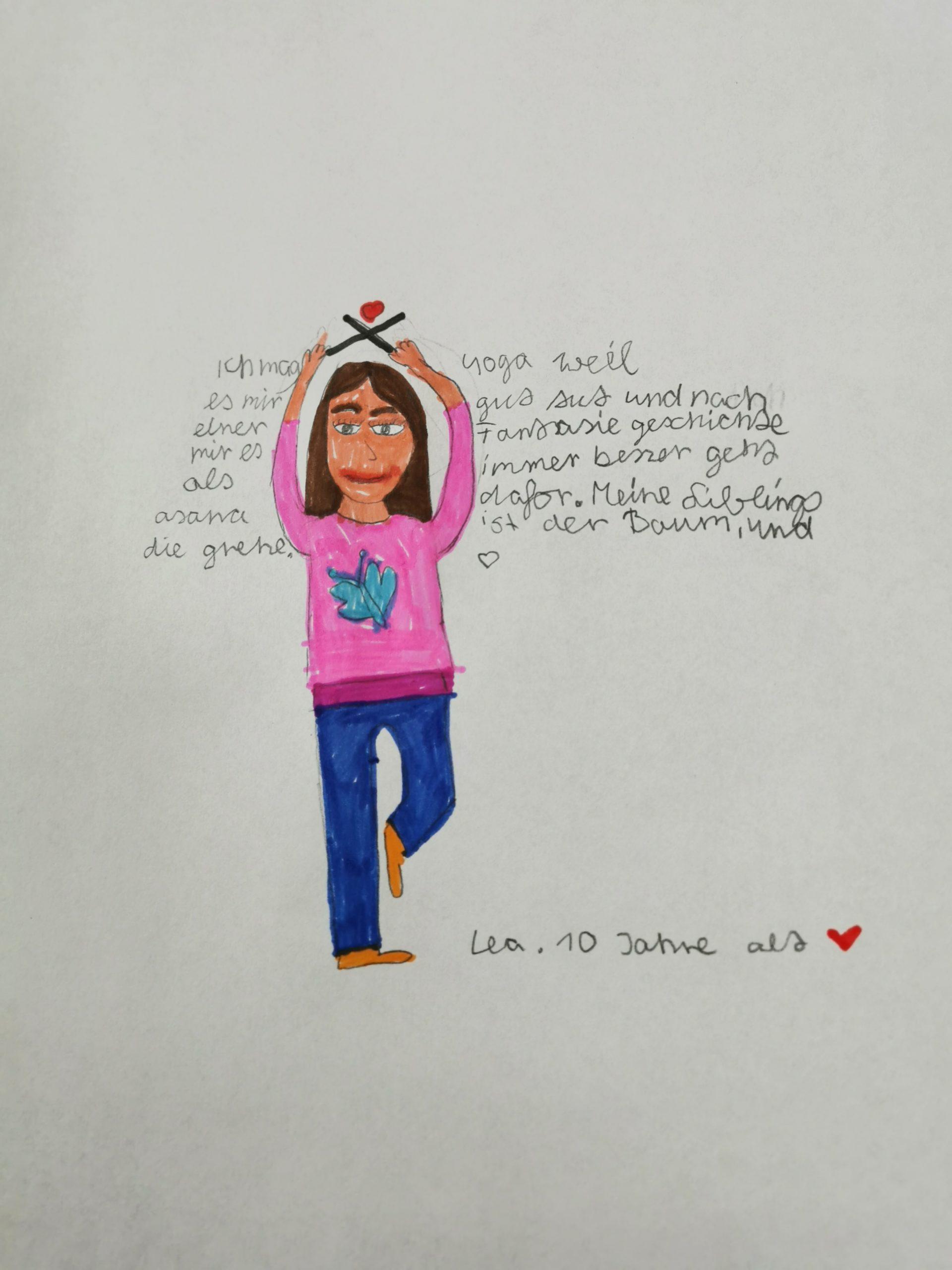 Zeichnung von Lea (10 Jahre)