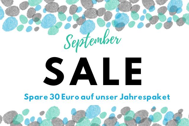 Promo-Aktion im September: Buche das Jahrespaket günstiger!